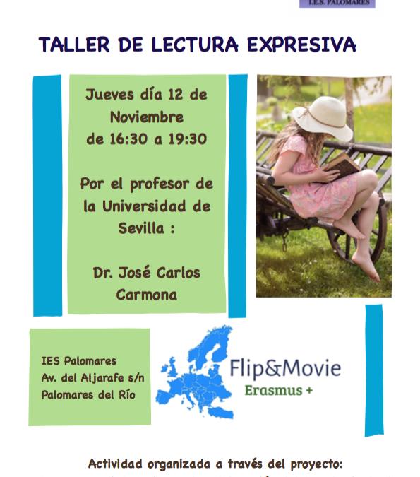 Taller de lectura expresiva impartido por el profesor de la Universidad de Sevilla Dr. José Carlos Carmona